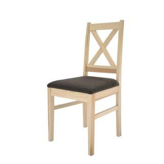 Krzesło Rodos twarde/tapicerowane – Sosna – Lite Drewno