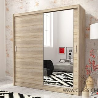 Szafa przesuwna Maja 1 z lustrem – 180 cm – Piaski