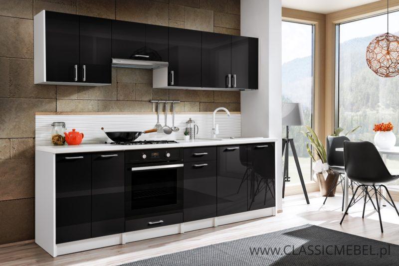 Kuchnia Max Czarny Połysk 2,4 m - Layman