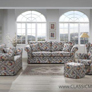 Zestaw Classic Living 3 + 2 + Fotel Lisa + Pufa Mini – Topline