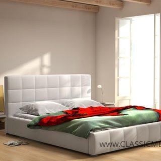 Łóżko tapicerowane Chester 140 x 200 z materacem – Arkos