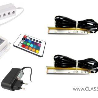 Oświetlenie Meblościanka Salsa / Komoda Salsa / Komoda Rumba –  2 Klipowe LED RGB Na Pilota