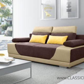 Sofa GREGORY  – 3 z funkcją spania z pojemnikiem – Kinas