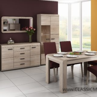 Jadalnia Link + Stół + Krzesła – Dąb Sonoma – Laski