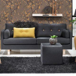Sofa Vega 3 + 2x Fotel Dixie + Glass Pufa – Topline