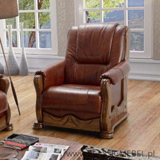 Stylowy Fotel Parys – skóra naturalna – Classic