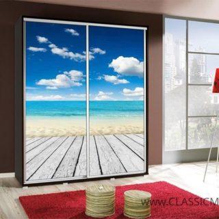 Szafa Penelopa 155 z motywem Plaża – Maridex