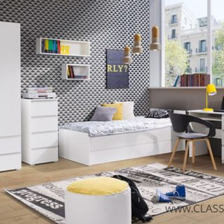 Cosmo 1 Biały / Dąb Sonoma / Dąb Riviera  – Maridex