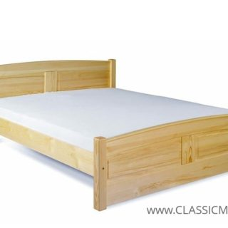 Łóżko Classic 140 x 200 – tył obniżony – SOSNA – LITE DREWNO – Meble Doktór