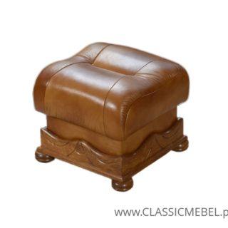Stylowa pufa Parys – skóra naturalna – Classic