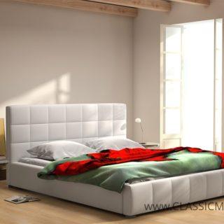 Łóżko tapicerowane Chester 160 x 200 z materacem – Arkos