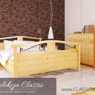Zestaw Classic do sypialni lub młodzieżowego pokoju – SOSNA – LITE DREWNO – Meble Doktór
