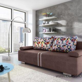 Sofa MALINA – 3 z funkcją spania z pojemnikiem – Kinas