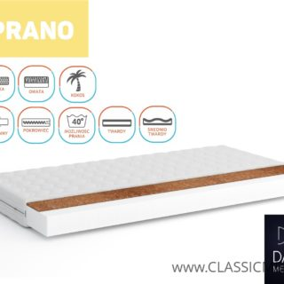 Materac Prano Pianka + Kokos  80 cm x 200 cm