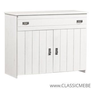 Komoda Romeo – 2 drzwiowa z szufladą – SOSNA – LITE  DREWNO –  Meble Doktór