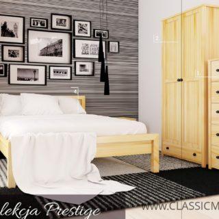 Piękny Zestaw Prestige do sypialni – SOSNA – LITE DREWNO – Meble Doktór