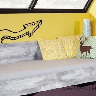 Łóżko Zoom 12 A + Regał Zoom 12 B + materac – Meblar