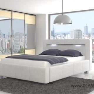 Łóżko tapicerowane Davi III z podświetleniem 194 cm x 225 cm