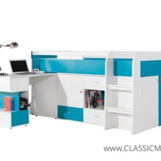 Łóżko piętrowe Mobi 21 z biurkiem + materac – Meblar