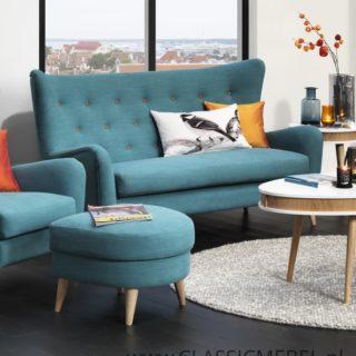 Sofa Molly 3 osobowa z pufą – Topline