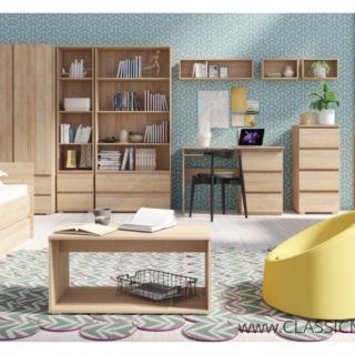 Cosmo 3 Biały / Dąb Sonoma / Dąb Riviera