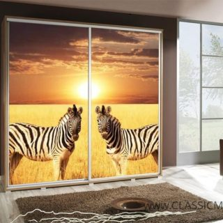 Szafa Penelopa 205 z motywem Zebra 2 – Maridex