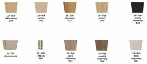 Rodzaje wybarwienia drewna