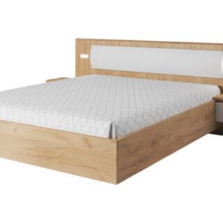 Łóżko Xelo ze stolikami Biała / Dąb Craft Złoty