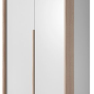 Szafa Xelo 100 cm Biała / Dąb Craft Złoty z oświetleniem