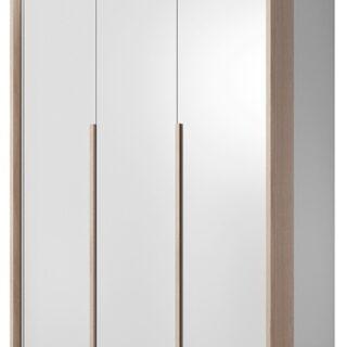 Szafa Xelo 140 cm Biała / Dąb Craft Złoty z oświetleniem